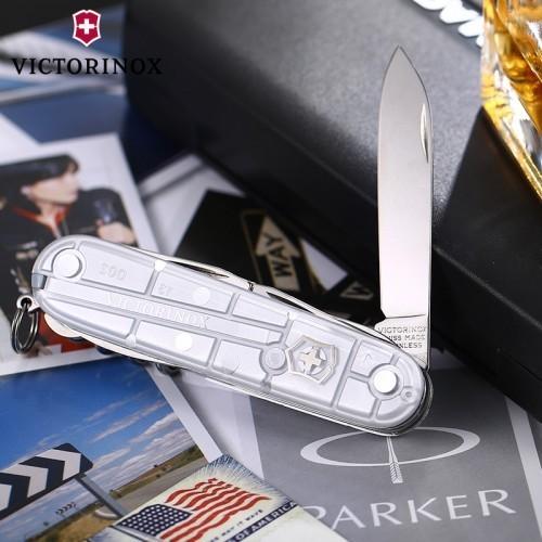 Складной нож Victorinox Climber SilverTech (1.3703.T7) 91 мм., 14 функций, полупрозрачный серебристый - Wenger-Victorinox.Ru