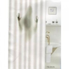 Шторка для ванной тканевая Zalel Силуэт девушки 180х180 см, с фотопринтом