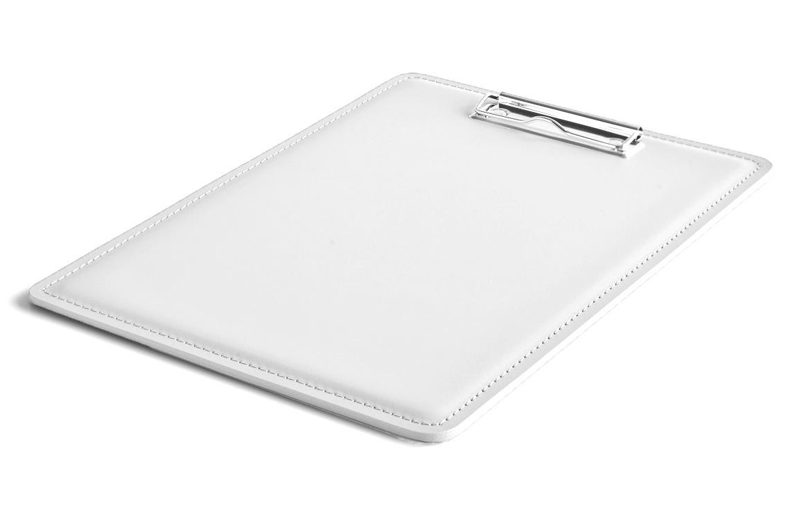 планшет А4 из белой кожи