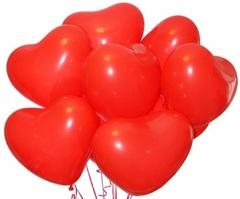 """Шары """"Красные сердечки"""" 30 см (летают от 2-х дней)"""