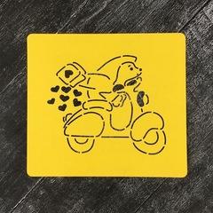 Ежик №2 на мотоцикле