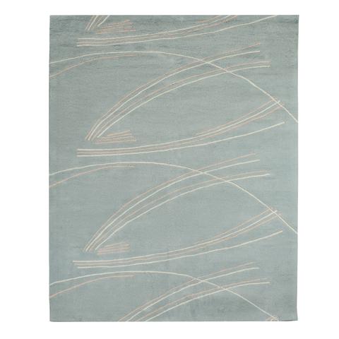 Ковер ручной работы из хлопка светло-серого цвета, 160х230 см