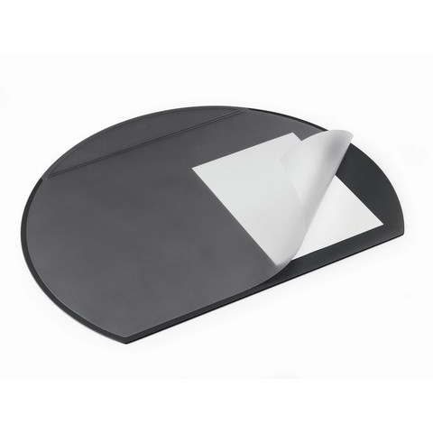 Коврик на стол Durable (52х65 см, полукруглый, прозрачный лист, черный)