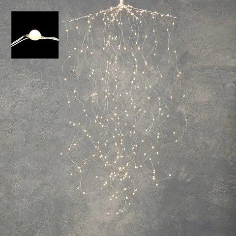 Гирлянда Комета на серебряном проводе мерцающий белый свет, для наружного и внутреннего использования