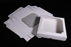 Коробка-трансформер с окном, цвет белый, 14,5 * 14,5 * 3 см, 1 шт.