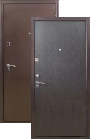 Дверь входная Меги ДС-150, 2 замка, 1,2 мм  металл, (медь+венге)