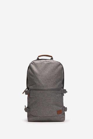 Нейлоновий рюкзак сірого меланжевого кольору