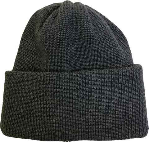Зимняя шапка бини с отворотом - цвет темно-серый меланж