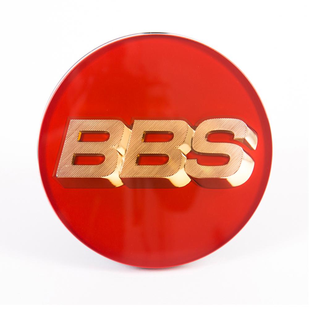 Крышка центрального отверстия BBS 70.1 мм gold/red (56.24.073)