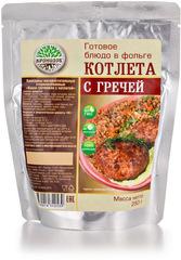 Туристическая еда Кронидов (Каша гречневая с котлетой)