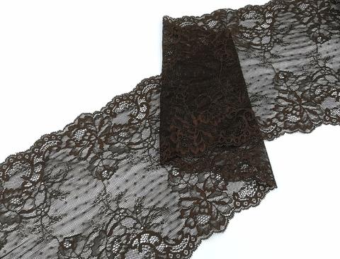 Эластичное кружево, шоколад, 21см, (Арт: EK-2403)