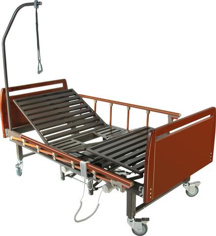 Медицинская кровать с электроприводом DB-10 (MM-56) , с туалетным устройством - фото