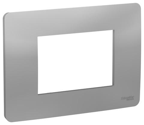 Рамка 3-модульная, Цвет Алюминий. Schneider Electric. Unica Modular. NU210330