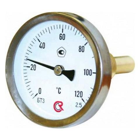 Термометр биметаллический осевой 0+120 °С
