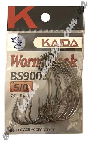 Крючки офсетные Kaida Worm Hook 1/0