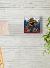 Часы настенные ЧЗ ИДЕАЛ с символикой России, 28 см, плавный бесшумный механизм