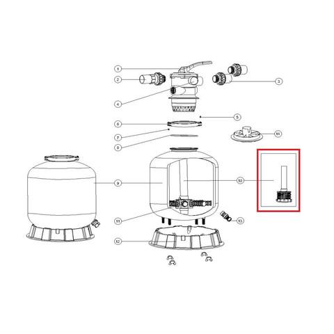 Дюзовая коробка 89011605 в комплекте с трубой для Aquaviva P500 / 20071