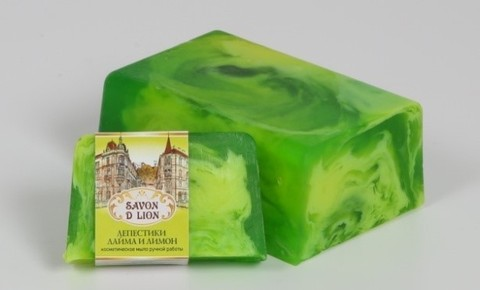 Косметическое мыло Лепестки лайма и лимон 100 гр. ТМ SAVON D LION