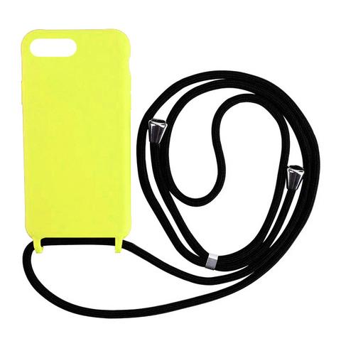 Чехол iPhone 7/8 Plus Silicone Case crossbody bag /flash/