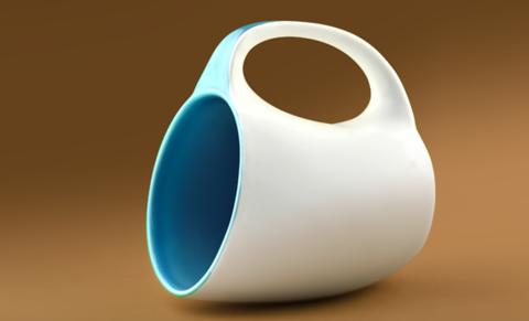 Кружка Asobu The porcelain saphire (0,4 литра), коричневая