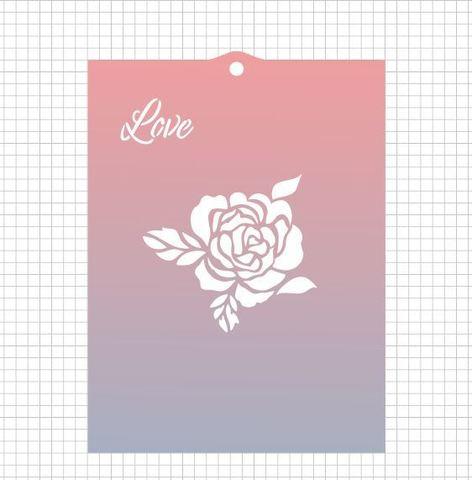 Трафарет №1488 - Роза