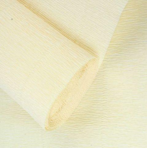 Бумага гофрированная, цвет 17А/1 кремовый, 180г, 50х250 см, Cartotecnica Rossi (Италия)