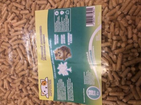 Хрустик древесный наполнитель для кошек (15 кг)
