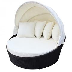 Круглый диван-шезлонг Bali White
