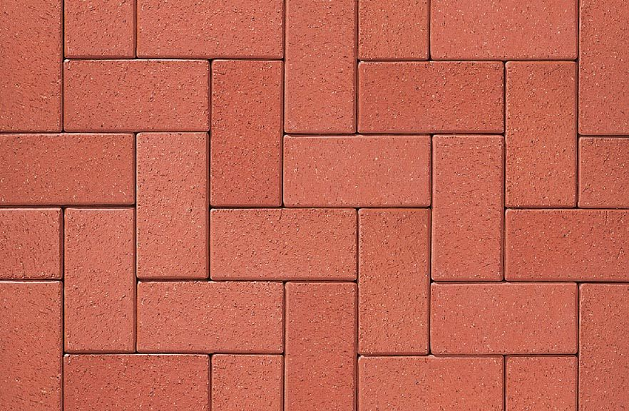ABC Rot nuanciert, 200x100x52 - Клинкерная тротуарная брусчатка