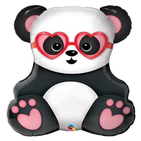 Воздушный шар фигура Влюбленная панда, 81 см