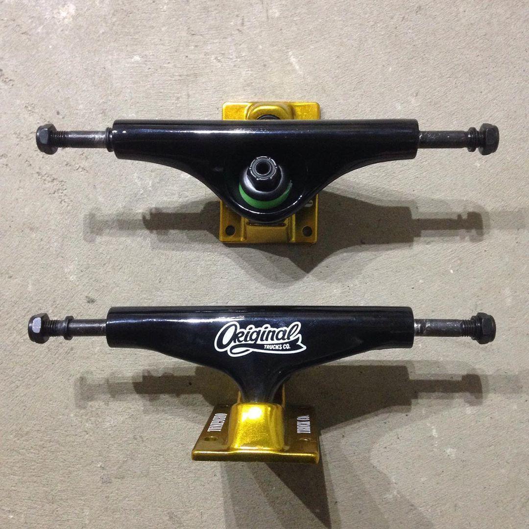 Подвески для скейта ORIGINAL TRUCKS CO. (Black/Gold)