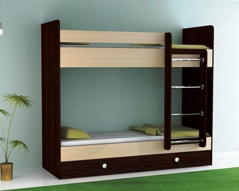 Кровать двухъярусная  ТЕНРИ с ящиками правая 2000-800 /2032*1604*952/