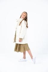 Пальто на кнопках ваниль