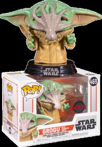 Фигурка Funko Pop! Star Wars: The Mandalorian – Grogu with Chowder Squid Squid (Excl. to Target)