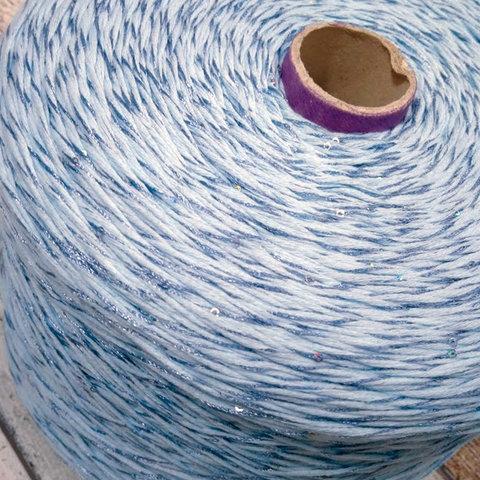 Хлопок с пайетками FILARTEX 160 голубой мулине