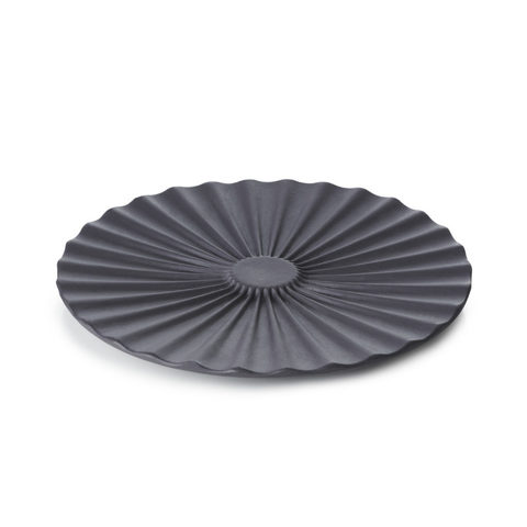 Фарфоровое блюдце, черное, артикул 653630, серия Pekoe