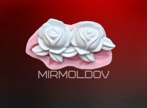Силиконовый молд   Две  Розы