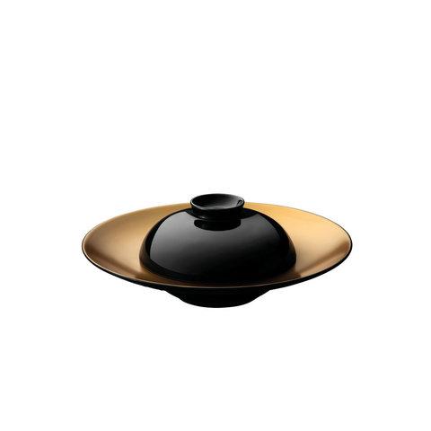 Глубокая сервировочная тарелка с миской черные