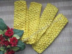 Повязка ажурная желтая ширина 4 см