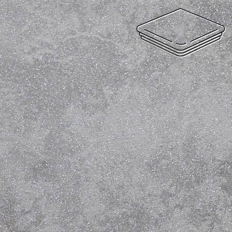 Stroeher - Keraplatte Roccia 840 grigio 345x345x12 артикул 9331 - Угловая клинкерная ступень - флорентинер