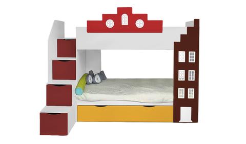 Двухъярусная кровать-домик подростковая