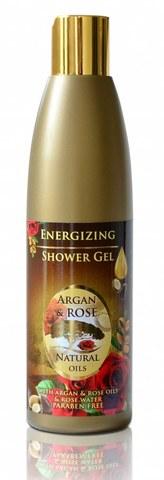 Освежающий гель для душа с аргановым маслом и натуральным розовым маслом, 250 мл.