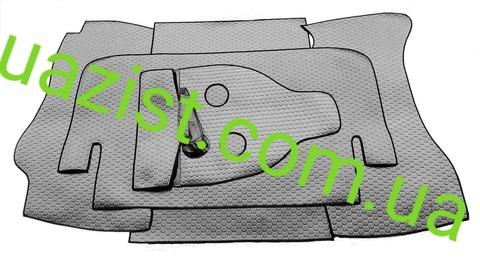 Автолин покрытие пола (шумоизоляция)  кабины УАЗ 469, Хантер  комплект из 5- ти частей (чёрный)