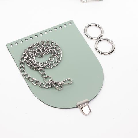 "Комплект для сумочки Орео ""Фисташка"". Цепочка и замок ""малыш"""