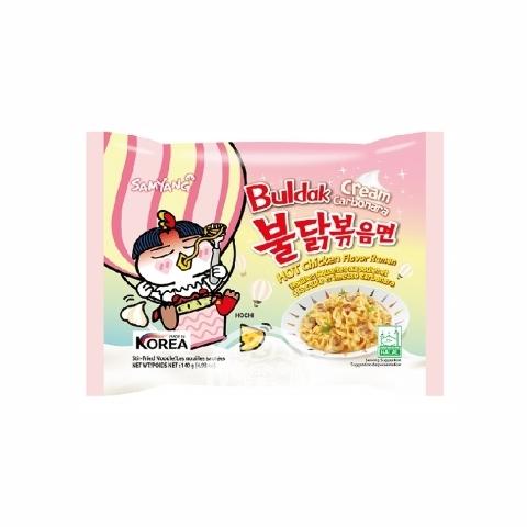 Лапша б/п Hot chiken ramen Cremy Carbonara со вкусом крем-карбонары 140г Samyang Корея