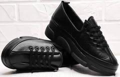 Женские туфли кроссовки на осень Mario Muzi 1350-20 Black.