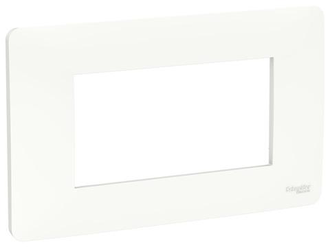 Рамка 4-модульная, Цвет Белый. Schneider Electric. Unica Modular. NU210418