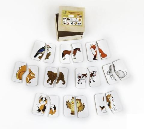 Картинки-половинки Животные, ToySib
