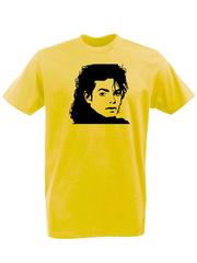 Футболка с принтом Майкл Джексон (Michael Jackson) желтая 002