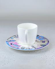 Фарфоровая чайная пара «Белый кролик» из серии «Алиса в Стране Чудес», Россия